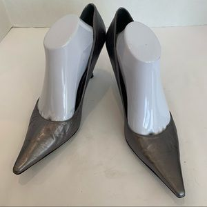 J RENEE size 11 MASALA style grey metallic heel